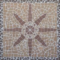 Мозаика ekoklinker Звезда Панно100х100 см