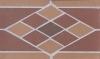 Подступенник ekoklinker Roumd/Ромб 25х15 см